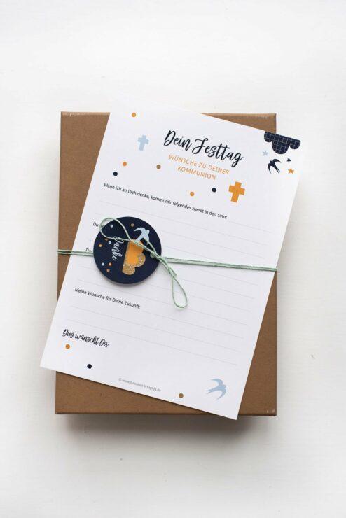 Gaestebuch Karten Bluebird Kommunion