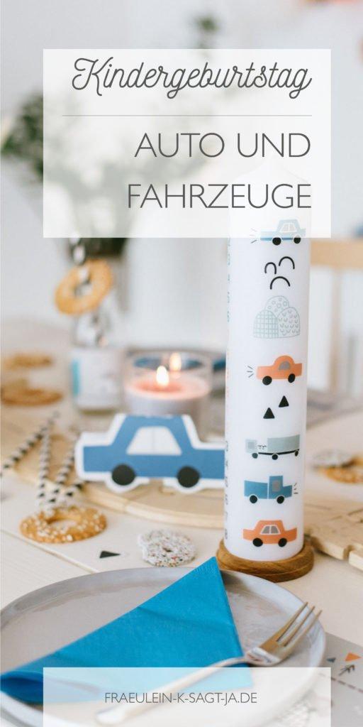 Kindergeburtstag Deko Auto Laster Fahrzeuge Box