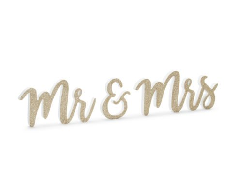 Aufsteller Mr and Mrs