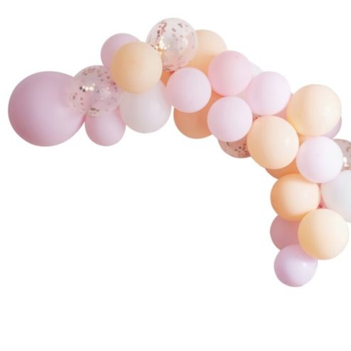 Ballongirlande peach rosa