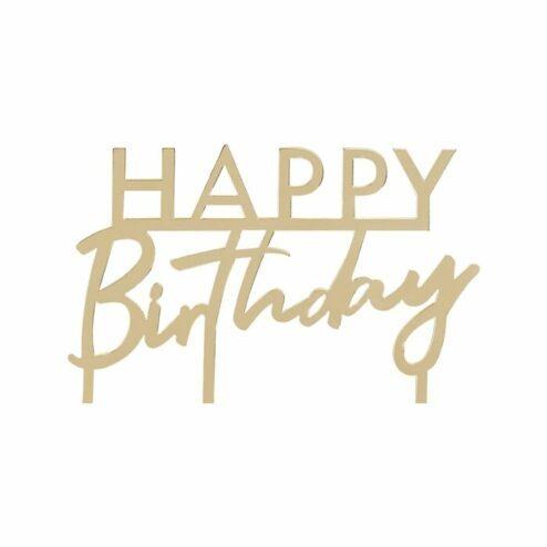 Cake Topper happy birthday acryl
