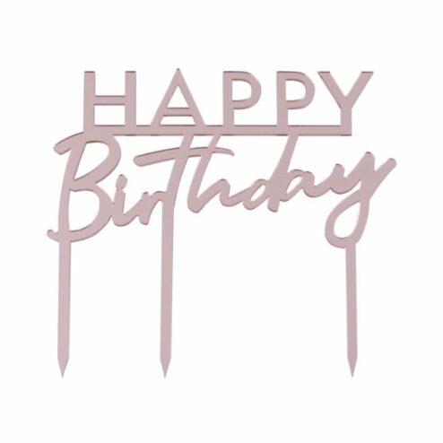 Cake Topper Happy Birthday roségold