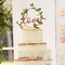 Cake Topper love script roségold