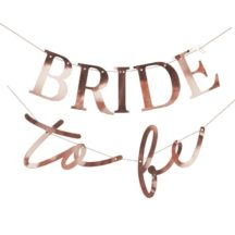 Girlande bride to be rosegold