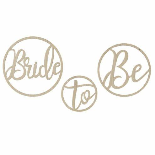 Holzreifen bride to be