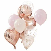 Luftballonbuendel peach rosa