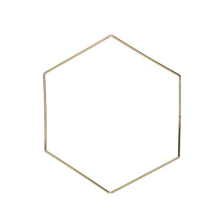 Metallhexagon Gold 30 cm