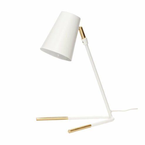 Tischlampe weiß Messing