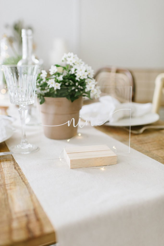 Hochzeitsdekoration ohne Kerzen