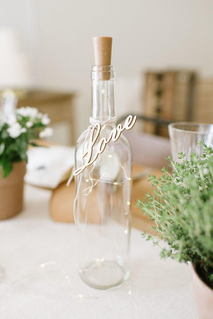 Hochzeitsdeko ohne brennende Kerzen