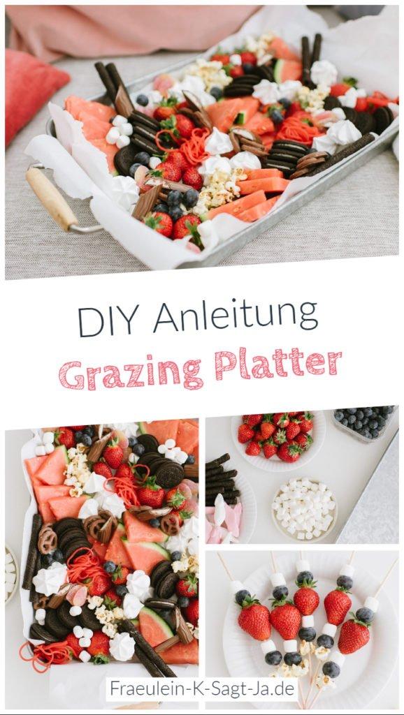 Food Trend Grazing Platter: Snackplatte für den gemütlichen Nachmittag mit Freundinnen einfach zubereiten und Desserts und Snacks gemeinsam genießen