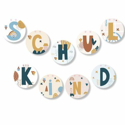 Girlande Einschulung Schulkind Bunte Buchstaben