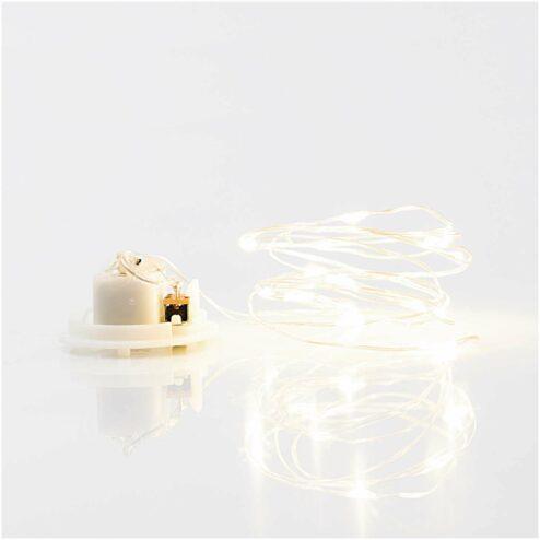 Mini LED Lichterkette silber