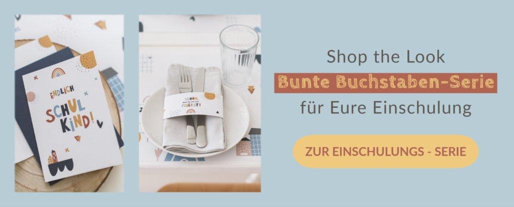 Shop the Look Einschulung Bunte Buchstaben