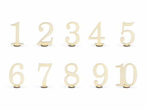 Tischnummern aus Holz