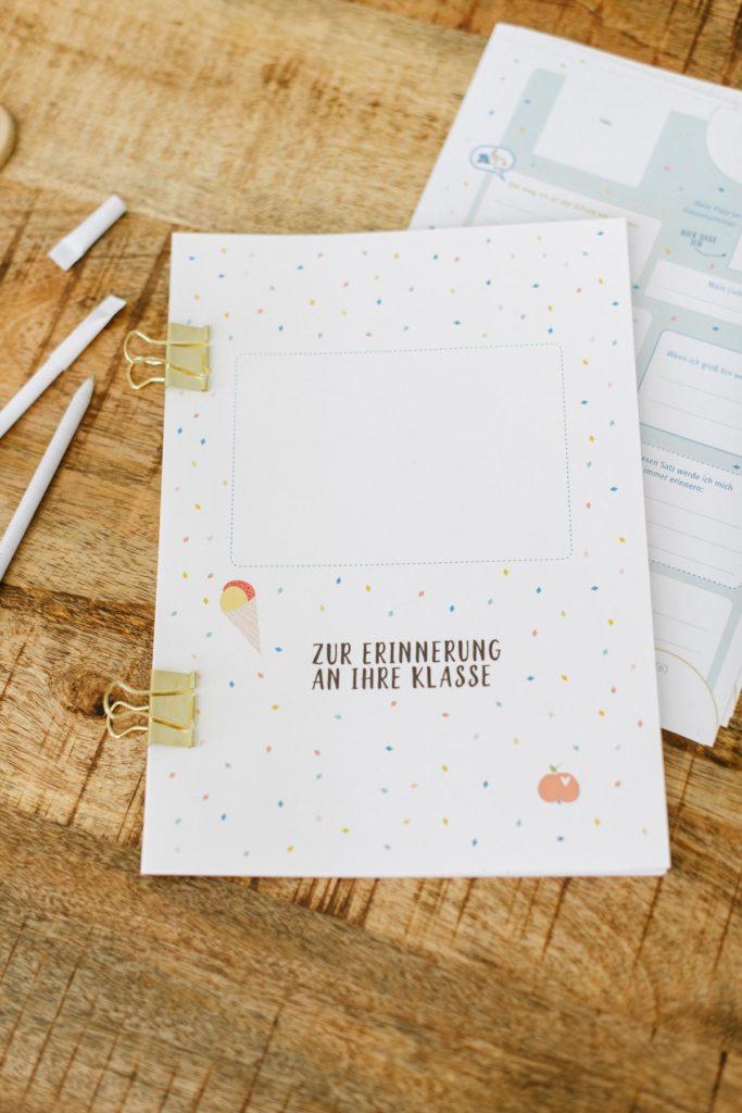 Abschiedsgeschenk Freundebuch für Lehrer