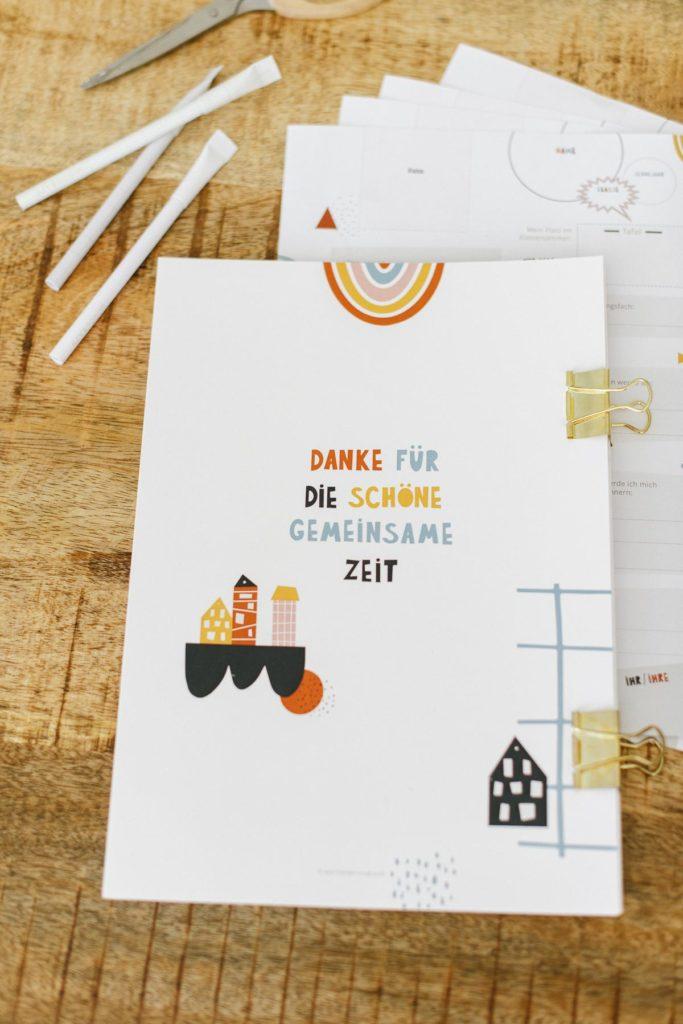 Abschied Lehrer Freundebuch Bunte Buchstabe