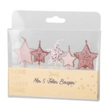 Geburtstagskerzen Sterne rosa