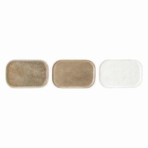 Kleine Servierplatten multi-color aus Steingut