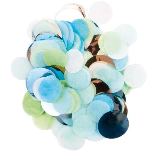 Konfetti blau grün