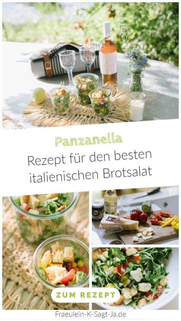 Panzanella - Rezept für den besten italienischen Brotsalat. Außergewöhnlichen Salat einfach vorbereiten & zu Grillfest, Picknick und Gartenparty mitbringen.