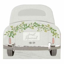 Papierserviette Hochzeitsauto 'Just married'