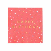 Papierservietten Happy Birthday bunte Kleckse