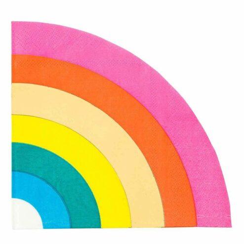 Papierservietten Regenbogen farbenfroh