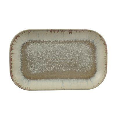 Servierplatte rechteckig multi-color Steingut