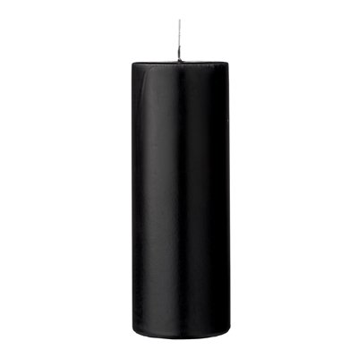 Stumpenkerze schwarz 20cm