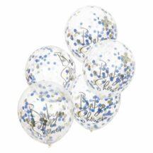 5 Luftballons Konfetti 'Baby Shower'