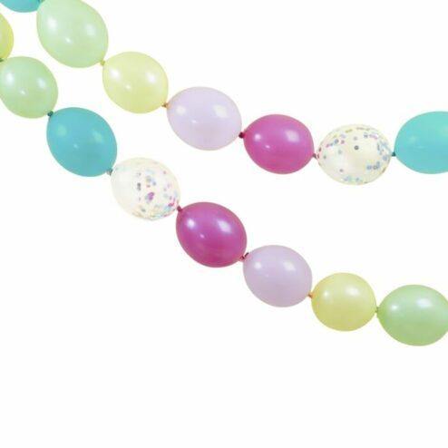 Ballongirlande multi-color klein