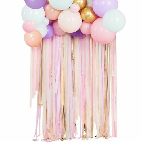 Ballongirlande pastell mit Bändern