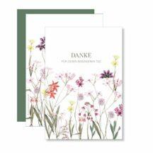 Danksagungskarte Elegant Flowers