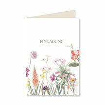 Elegant Flowers Einladungskarte
