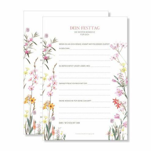 Gaestebuchkarten Elegant Flowers