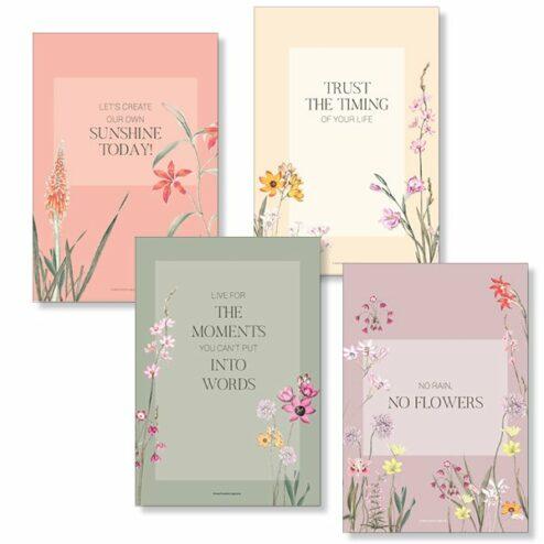 Postkarten Sprueche Elegant Flowers