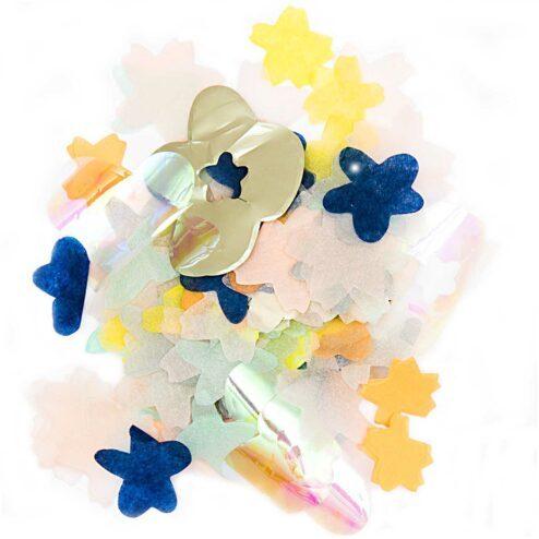 Konfetti Blueten Mix blau