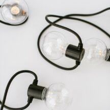 Lichterkette schwarz LED Batterie