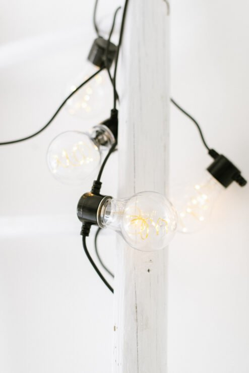 Lichterkette LED schwarz Tropfen batteriebetrieben