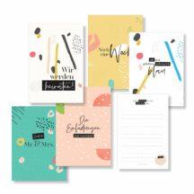Meileinsteinkarten Hochzeit Happy Design