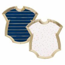 Pappteller Baby Body rosa-blau