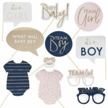 Photobooth Props Baby Body rosa-blau