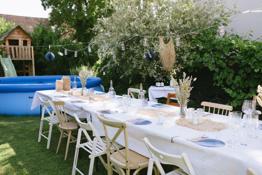 Poolparty im eigenen Garten dekorieren! Der runde Geburtstag wird im Garten mit einer Poolparty gefeiert. Viele Dekoideen zum Selbermachen!