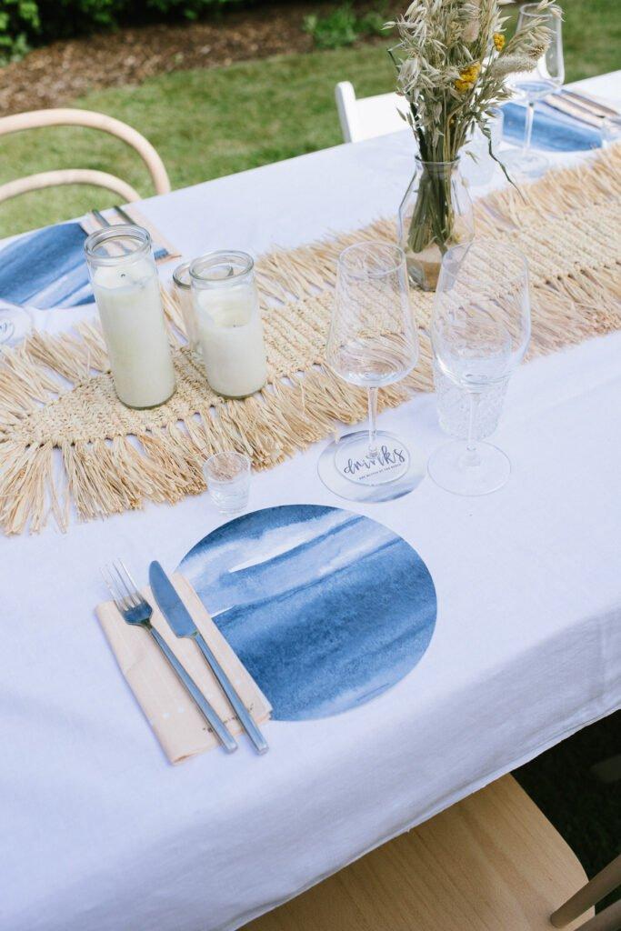 Tischdekoration im Beach Party Look
