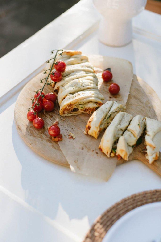 Rezept für Stromboli Pizzabrote