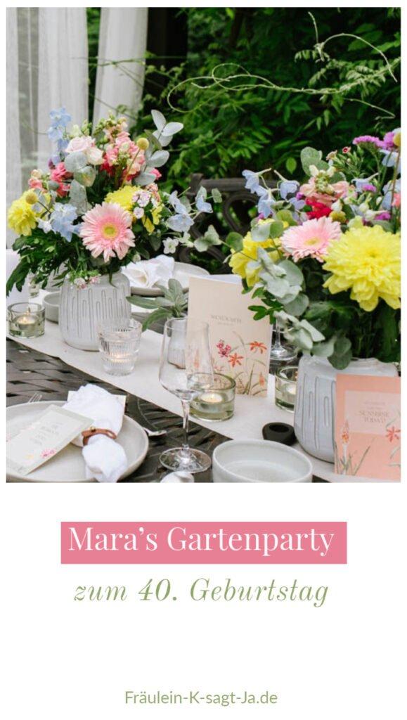 Eine Gartenparty zum 40. Geburtstag ist ideal, um auch in Corona Zeiten zu feiern. Ideen für die Dekoration der DIY Gartenparty.