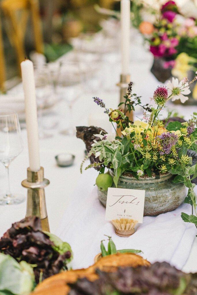 Green Wedding Nachhaltig Heiraten regional saisonal Hochzeit feiern