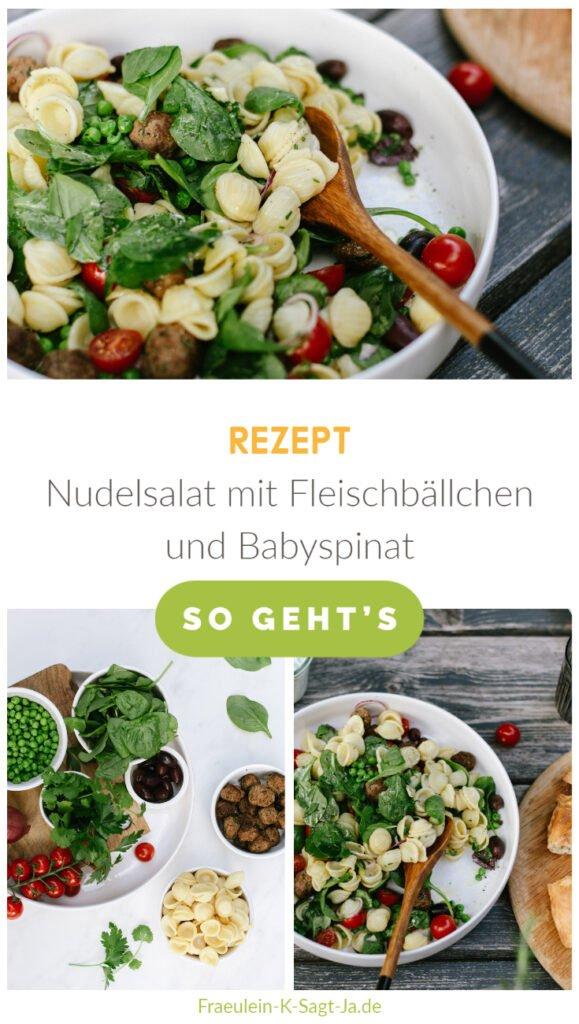Rezept Nudelsalat Spinat Fleischbaellchen
