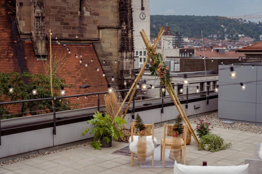 Ethno meets Urban - Heiraten über den Dächern von Stuttgart - Hochzeit über den Dächern von Stuttgart